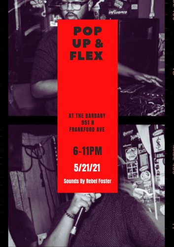 pop up and flex at the barbary poster